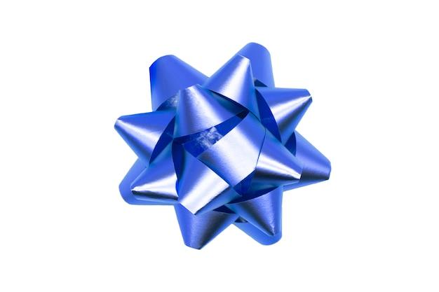 Bellissimo regalo di prua. nastro blu.