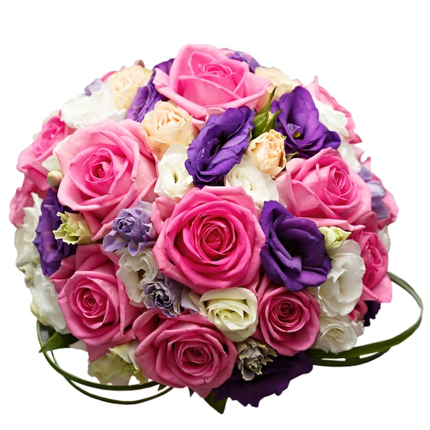 Bellissimo bouquet da sposa a una festa di nozze. isolamento