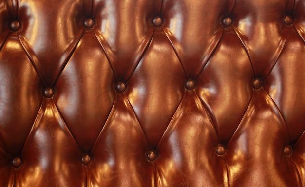 Bello modello di struttura del sedile in pelle marrone.