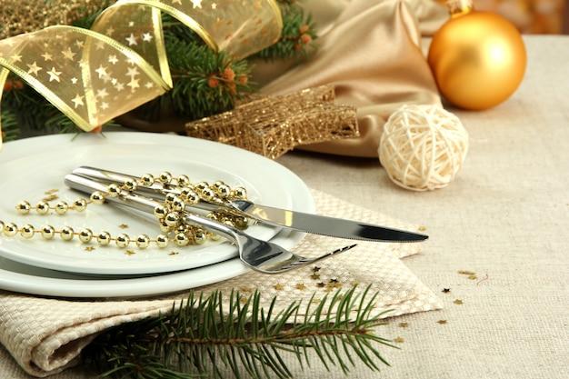 Splendida ambientazione natalizia, primo piano