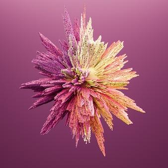 Bel colore fumo. illustrazione 3d, rendering 3d.