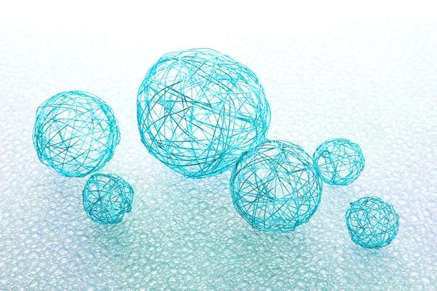 Bellissime palline decorative, su sfondo blu