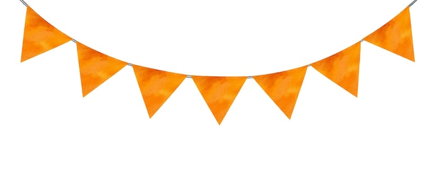 Bellissimo disegno di bandiere festive. immagine dipinta