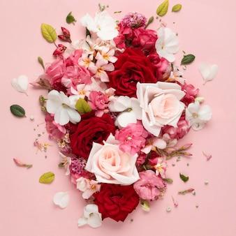 Bello concetto floreale di san valentino