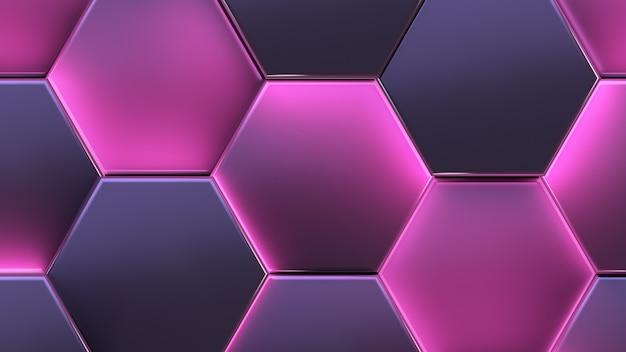 Bellissimo sfondo astratto futuristico. cellule luminose.