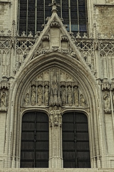 La bellissima cattedrale gotica di san michele e santa gudula, belgio, brussel, europa.