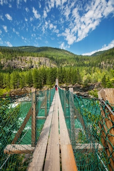Bellissimo fiume kootenai nel montana, usa