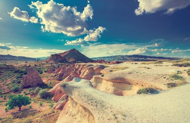 Bellissimo paesaggio in cappadocia turchia