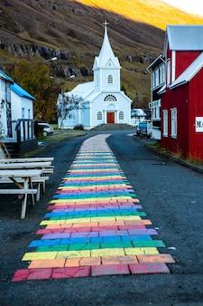 Bella immagine del paesaggio dell'islanda