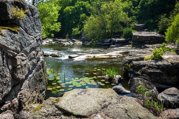 Bellissimo paesaggio del canyon ucraino a buki