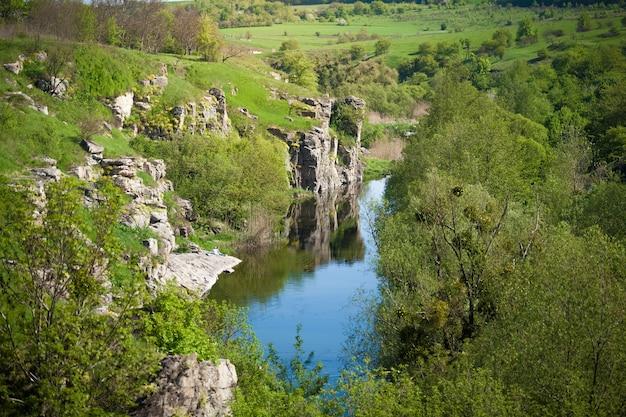 Bellissimo paesaggio del canyon ucraino
