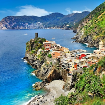 Bei paesaggi della costa ligure dell'italia