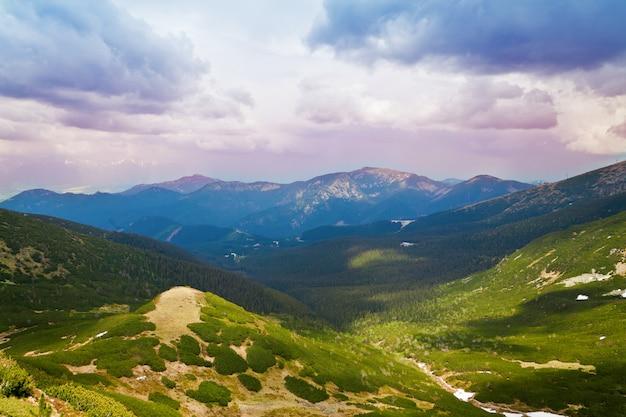 Bellissimo paesaggio dei monti bassi tatra