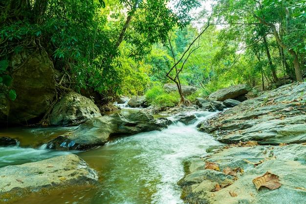 Bellissima cascata di mae sa a chiang mai, thailandia