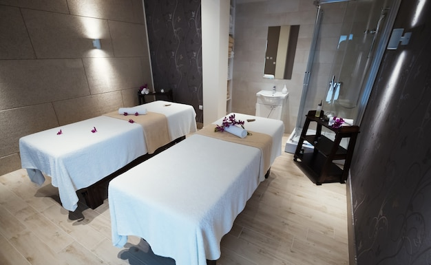 Bella sala massaggi moderna nel resort termale?