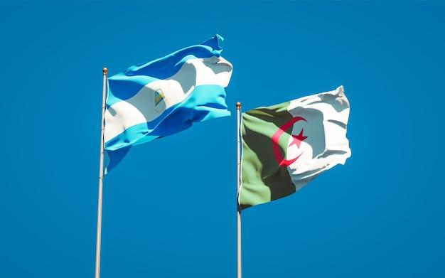 Belle bandiere nazionali contro il cielo