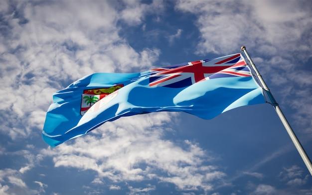 Bella bandiera nazionale dello stato delle fiji svolazzanti