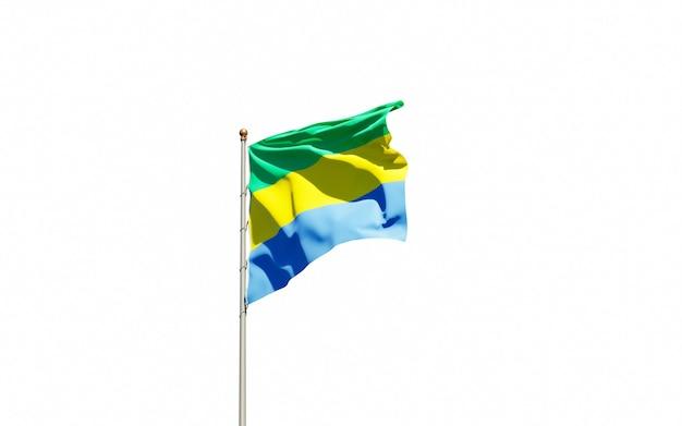 Bella bandiera nazionale dello stato del gabon