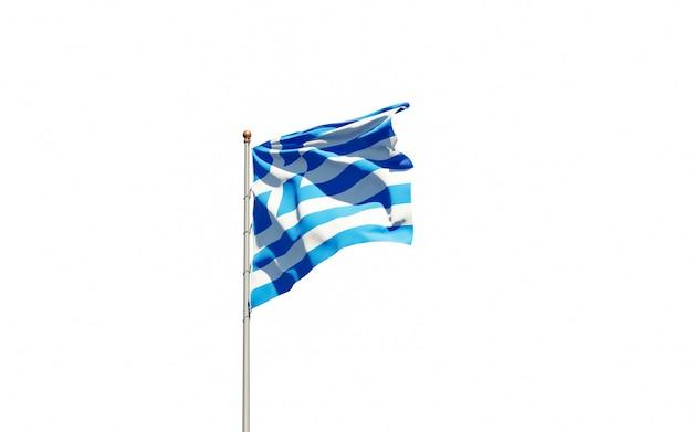 Bella bandiera nazionale dello stato della grecia
