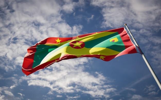 Bellissimo stato nazionale bandiera di grenada svolazzanti