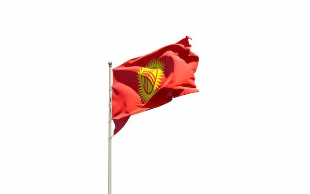 Bella bandiera nazionale dello stato del kirghizistan