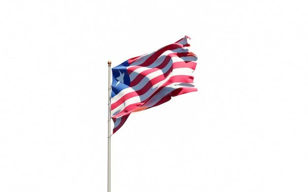 Bella bandiera nazionale dello stato della liberia