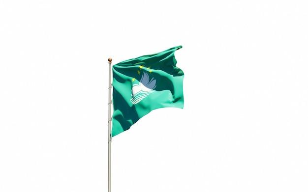 Bella bandiera nazionale dello stato di macao