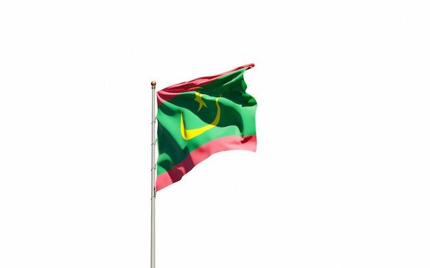 Bella bandiera nazionale dello stato della mauritania