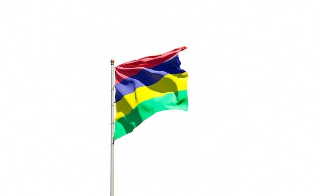 Bella bandiera nazionale dello stato di mauritius