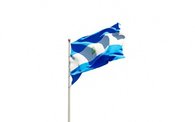 Bella bandiera nazionale dello stato del nicaragua