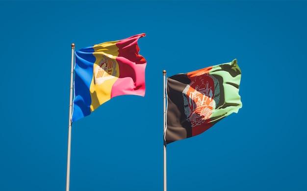 Belle bandiere di stato nazionali dell'afghanistan e di andorra