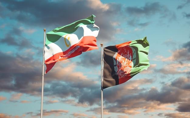 Belle bandiere dello stato nazionale dell'afghanistan e del bangsamoro