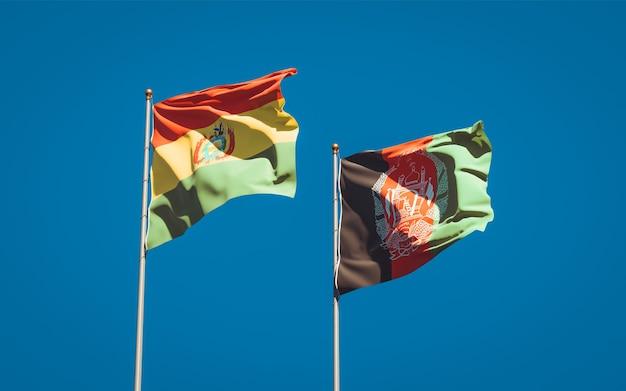 Belle bandiere di stato nazionali dell'afghanistan e della bolivia