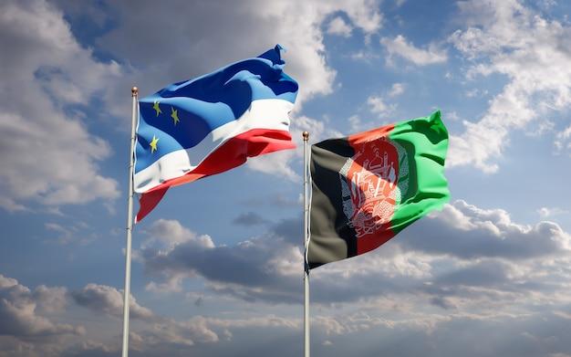 Belle bandiere di stato nazionali dell'afghanistan e della gagauzia