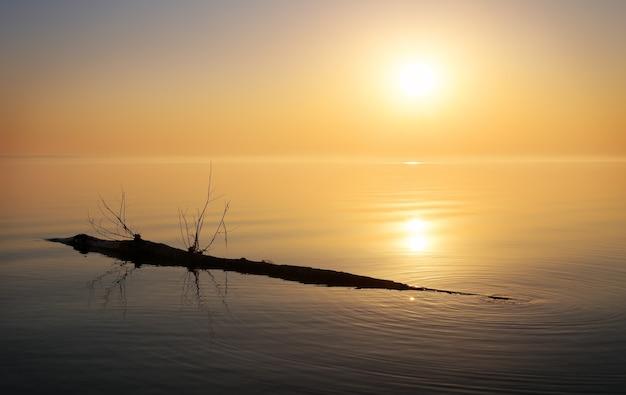 Bellissimo oceano e intoppo. alba nel mare