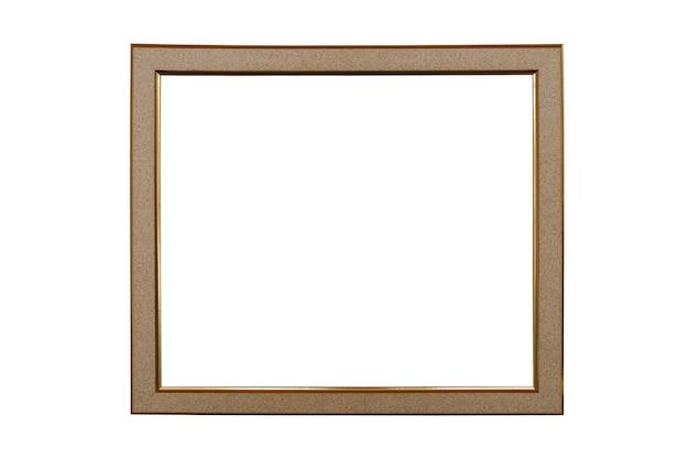 Bella cornice per foto isolata su sfondo bianco