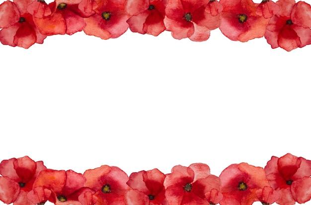 Bella immagine di fiori di papavero. buona giornata della memoria. primo piano, vista dall'alto. concetto di festa nazionale. congratulazioni per famiglia, parenti, amici e colleghi