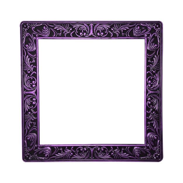 Bella cornice viola isolata su sfondo bianco
