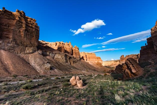 Bello paesaggio del canyon dell'arenaria rossa