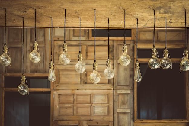Bello retro della decorazione della lampada leggera