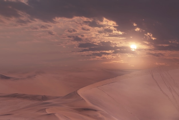 Belle dune di sabbia e cielo spettacolare nel deserto del namib