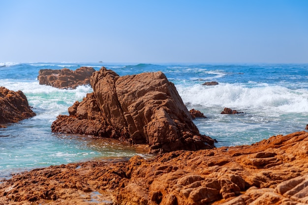 Bella vista sul mare di pebble beach