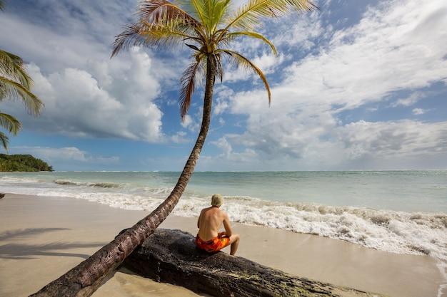 Bellissimi paesaggi estivi sulla spiaggia tropicale