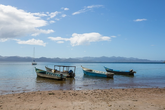 Bella costa tropicale dell'oceano pacifico in costa rica