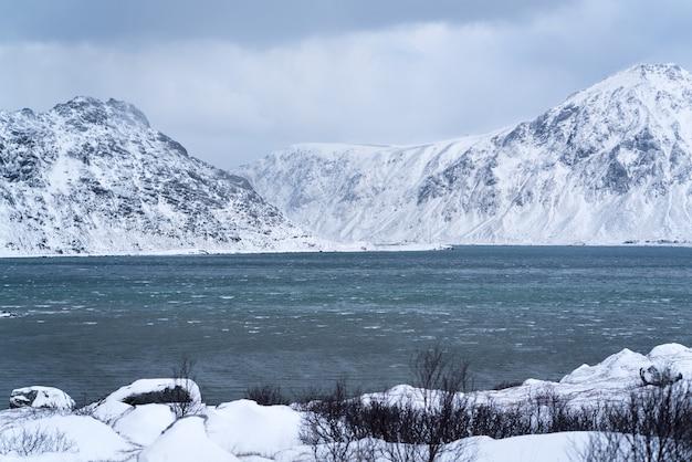 Bella natura incontaminata nel nord della scandinavia