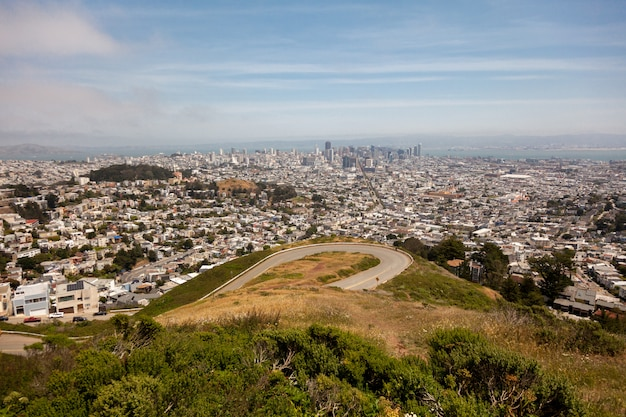Bella vista sulla grande metropoli