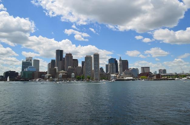 Splendida vista della città di boston in massachusetts