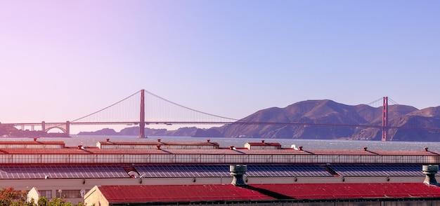 Bella vista sul famoso golden gate bridge di san francisco