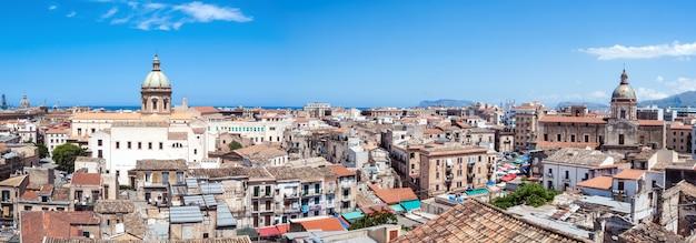 Splendida vista di palermo dalla torre di san nicolò, in sicilia