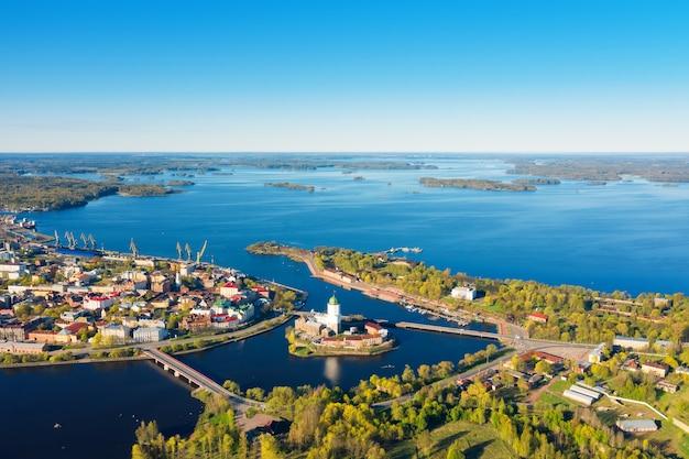 Bella vista aerea di vyborg